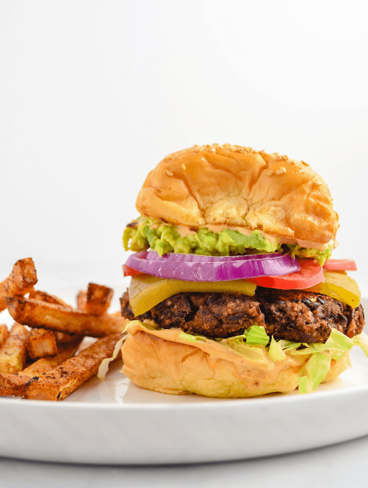 southwest black bean burger