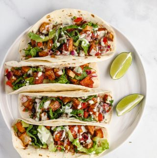 crispy vegan potato tacos