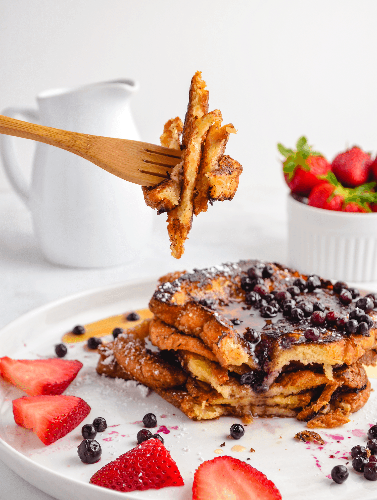 vegan eggless coconut milk french toast bite